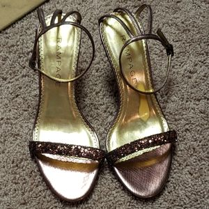 Rampage pink glitter dress heels 8M